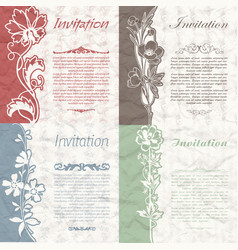 set of vintage background for the invitation with vector image
