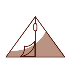 shadow camping tent cartoon vector image