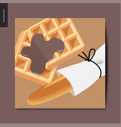 simple things - baked goods vector image
