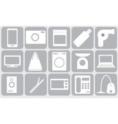 Sixteen gadgets vector