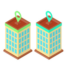 Skyscraper location set vector