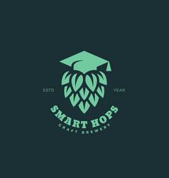 Smart hops logo vector