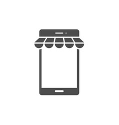 smart phone with awning vector image