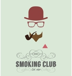 smoking club card vector image