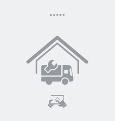 Steady truck assistance center - web icon vector