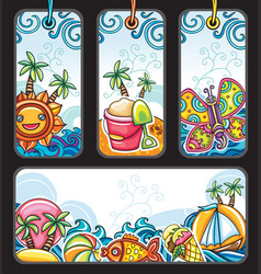 summer tags series vector image
