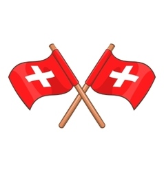 Switzerland flags icon cartoon style vector image