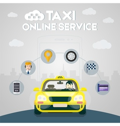 Taxi online service vector image