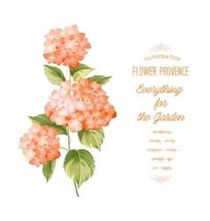 The Hortensia flower vector