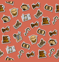 theater flat icons pattern vector image