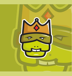 ugly king head mascot vector image