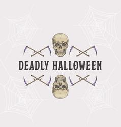 Vintage style halloween headline or title vector