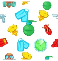 War equipment pattern cartoon style vector image