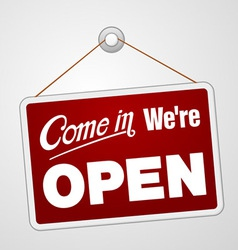 We are Open Sign vector