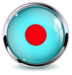 web button record rec sign blue glass 3d icon vector image