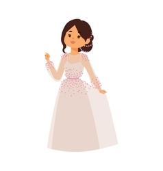 Wedding bride girl character vector image vector image