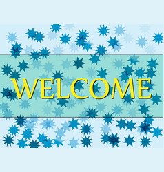 Welcome hand lettering eps8 vector