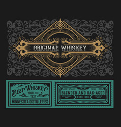 western label for whiskey or other products vector image