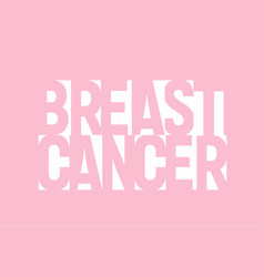 white geometric lettering breast cancer banner vector image