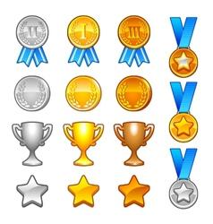 Winter sport awards vector image