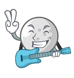 with guitar golf ball mascot cartoon vector image