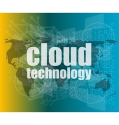 words cloud technology on digital screen vector image