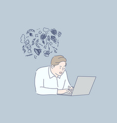 work stress frustration depression business vector image
