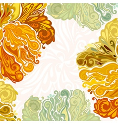 Autumn leaves floral design element vector image
