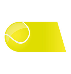 Colorful background of fast moving tennis ball vector