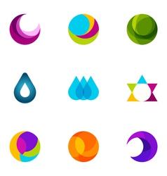 logo design elements set 14 vector image