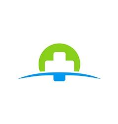 Cross medic abstract color logo vector