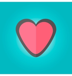 heart emblem in flat style vector image vector image