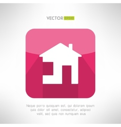 House icon made in modern clean and simple flat vector image