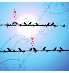 love birds kissing vector image vector image
