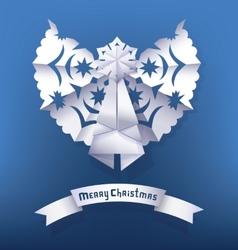 Paper angel Christmas Greeting vector image