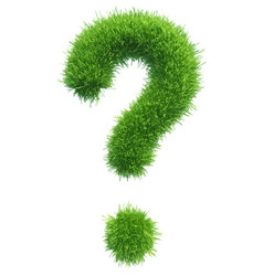 question mark from grass vector image vector image