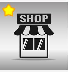 shop store black icon button logo symbol vector image vector image