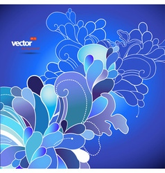 Abstract flowers on blue background vector image