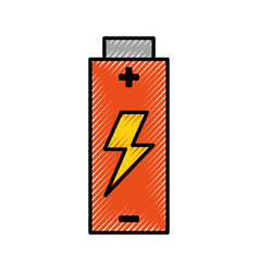 battery electric energy vector image