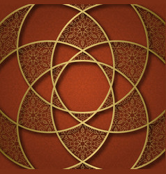 ornamental background with mandala form frame vector image