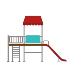 playground slide game icon vector image