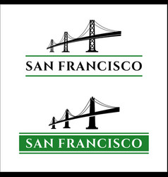 san francisco bridge vector image