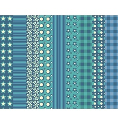 Set of simple seamless pattern 5 vector image vector image