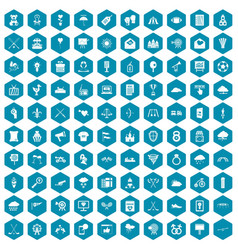 100 arrow icons sapphirine violet vector image vector image