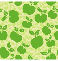 apples with leaves vector image vector image
