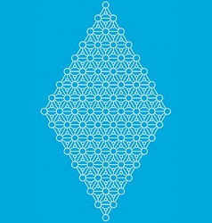 Geometric interlaced pattern vector image vector image