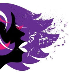 Girl background vector image vector image