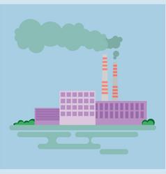 industrial factory buildings icon vector image vector image