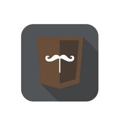 Web development shield sign isolated mustache icon vector