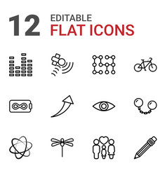 12 abstract icons vector
